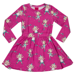 Raspberry Republic Pink Flying Kitty Dress