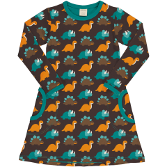 Maxomorra Dinosaur LS Dress