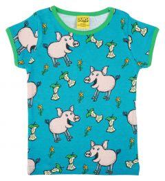 DUNS Pig Teal T-shirt