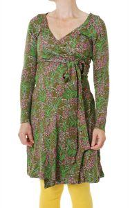 DUNS Willowherb Olive Branch LS Wrap Dress LADIES