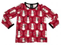 Villervalla Red Snowman Top