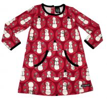 Villervalla Red Snowman Dress
