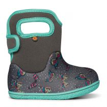BOGS Baby Bogs Classic Butterflies Grey/Turquoise