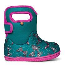 BOGS Baby Bogs Classic Butterflies Teal/Pink