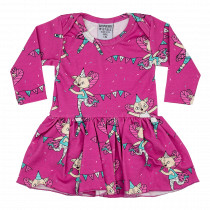 Raspberry Republic Pink Flying Kitty Baby Body Dress