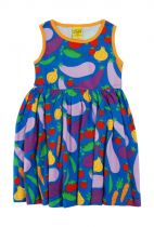 DUNS Cultivate Blue Twirly Gathered Dress