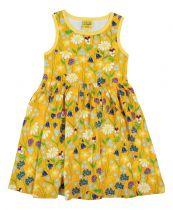 DUNS Midsummer Yellow Twirly Gathered Dress