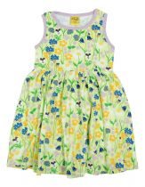 DUNS Midsummer Green Twirly Gathered Dress