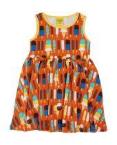 DUNS Ice Cream Pumpkin Twirly Gathered Dress