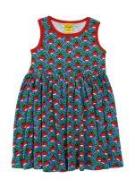 DUNS Radish Cornflower Twirly Gathered Dress