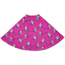 Raspberry Republic Pink Flying Kitty Velour Skirt
