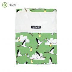 Villervalla stork baby bed set meadow green