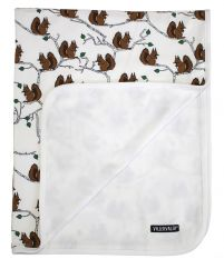 Villervalla marble squirrel reversible blanket