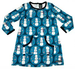 Villervalla Marine Blue Snowman Dress