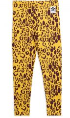Mini Rodini Yellow Leopard Leggings