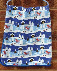 JNY Snowy Cottage Blanket
