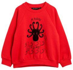 Mini Rodini Red Octopus Sweatshirt