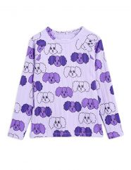 Mini Rodini Purple Fluffy Dog LS Top