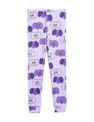 Mini Rodini Purple Fluffy Dog Leggings