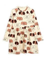 Mini Rodini Beige Fluffy Dog Dress