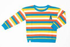Alba Sean Sweat Mykonos Blue Stripes
