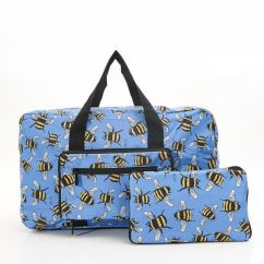 Eco Chic holdall blue bees