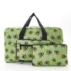 Eco Chic holdall lime green bees