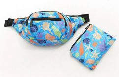 Eco Chic blue seashells bun bag