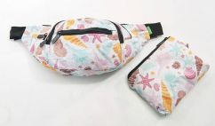 Eco Chic bum bag white seashells