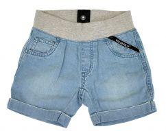 Villervalla Light Wash Denim Shorts with Cuff