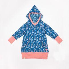 Alba Cozy Hood Dress Mykonos Flower Garden