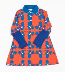 Alba Snorkel Blue Dogs Moonlight Dress