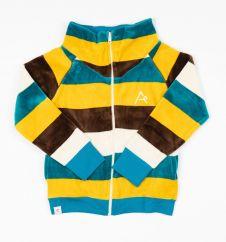 Alba Turkish Tiles Love Stripes Hollum Zipper Cardigan