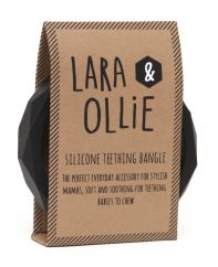Lara and Ollie black teething bangle
