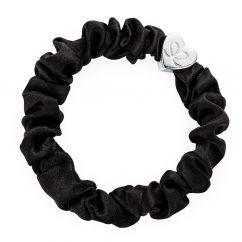 Byeloise Hairtie Black Silk Scrunchie