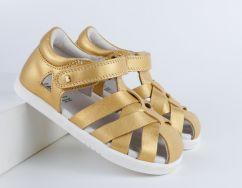 Bobux I-Walk / Kid+ Tropicana II Gold Closed Toe Sandal