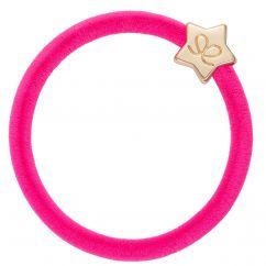 ByEloise Hairtie Velvet Neon Pink