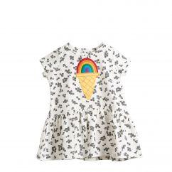 The Bonniemob rainbow ice cream applique dress