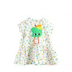 The Bonniemob rainbow apple applique dress