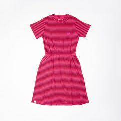 Alba Aia Ladies Carla Dress Raspberry Stripe