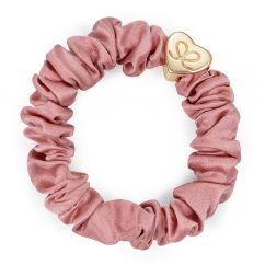 Byeloise hairtie champage pink silk scrunchie