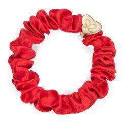 Byeloise hairtie cherry red silk scrunchie