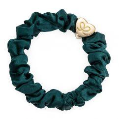 Byeloise Hairtie Chive Green Silk Scrunchie