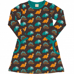 Maxomorra Dinosaur LS Dress