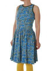 DUNS Dill Blue Twirly Gathered Dress LADIES