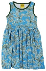 DUNS Dill Blue Twirly Gathered Dress