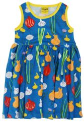 DUNS Garlic, Chives & Onion Blue Twirly Gathered Dress