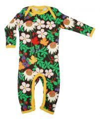 DUNS Autumn Flowers Brown Lap Neck Suit