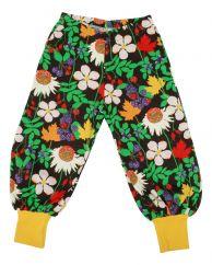 DUNS Autumn Flowers Brown Baggy Pants