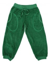 DUNS Juniper Green Terry Trousers